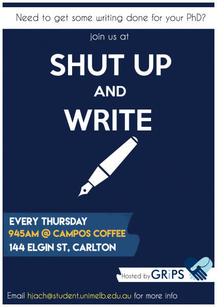 Flyer for Shut Up and Write