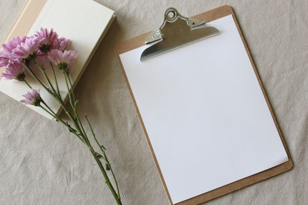 Photo of a clipboard