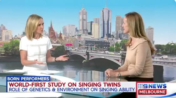 Photo of Sarah Wilson being interview for Channel 9 News