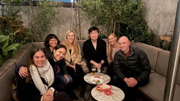 Photo of lab social at Johnny's Green Room