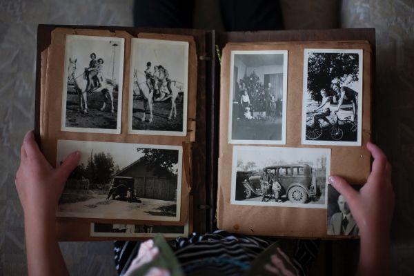 Photo of old picture album