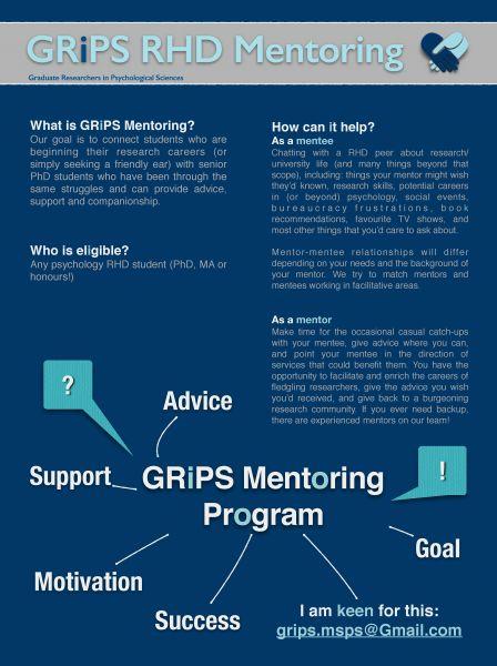 GRIPS mentoring flyer